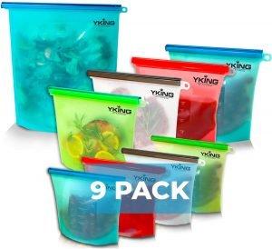 YKing Reusable Freezer Bags